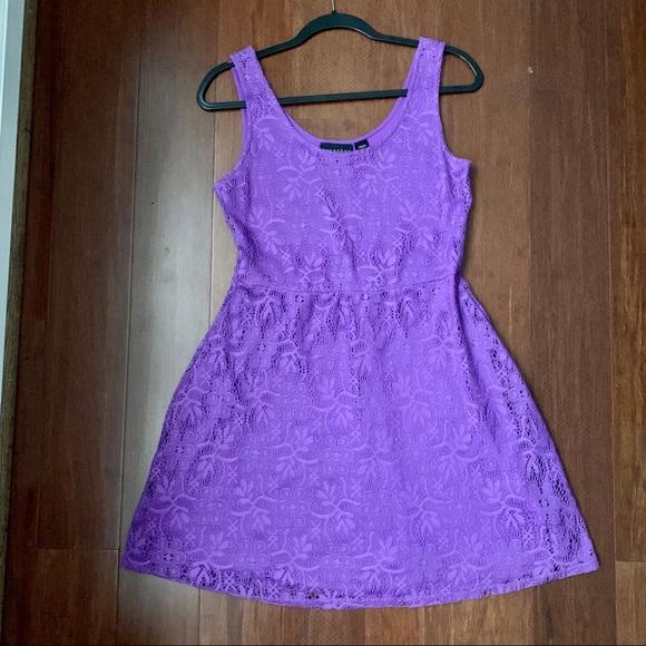 Metaphor Dresses & Skirts - Metaphor purple lace skater dress